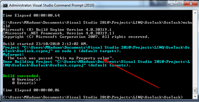 Run MSBuild for the project