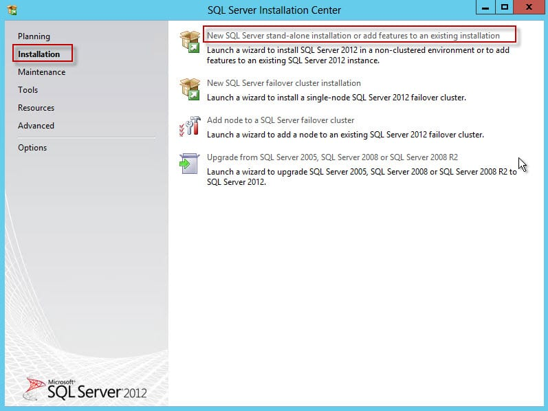 27-New SQL Server stand-alon instllation or add features to existing installation