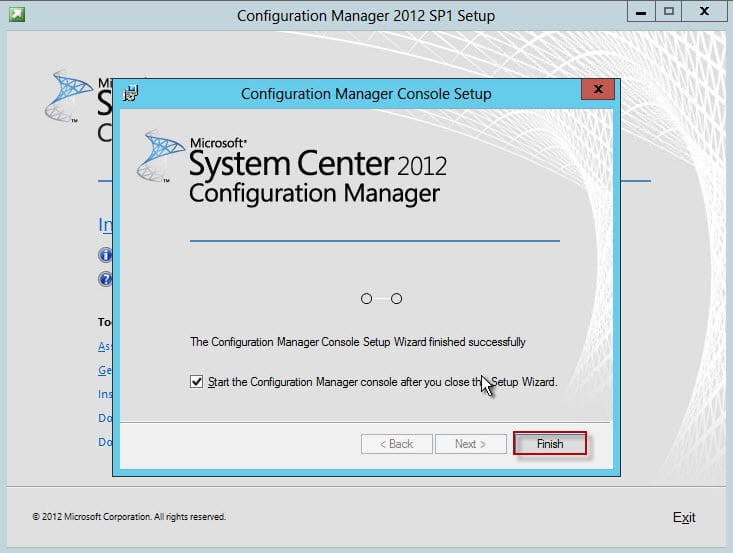 55-SCCM Console Installation Complete