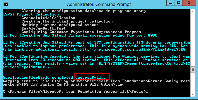Configuration Succeed