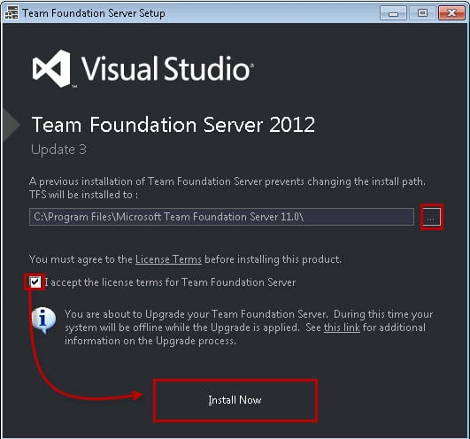 Visual Studio TFS 2012 Update 3 -1