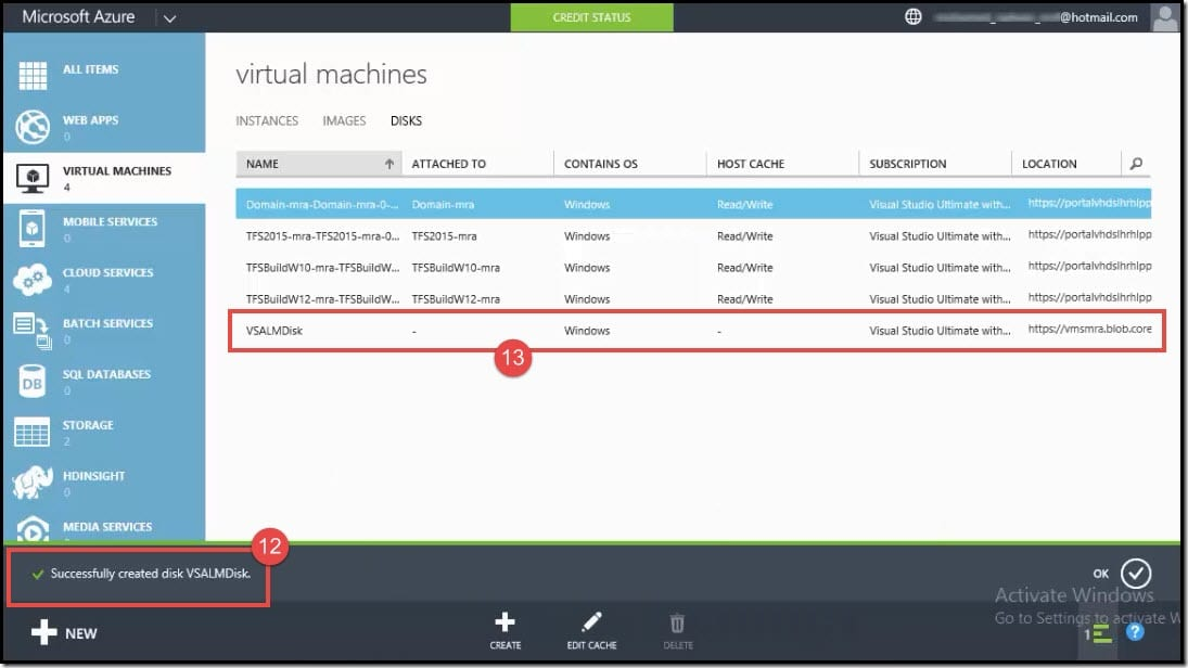 10-Create a disk from vhd from Azure classic portal (4)