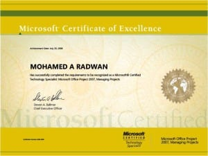 (MCTS)<br> Microsoft Office Project<br> Managing Project <br>  8/16