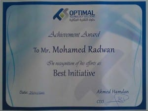(OTS) <br>Best Initive Employee 2010 <br> 4/5