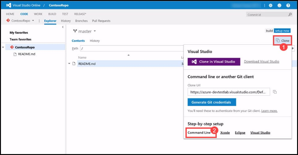 2-1 Clone VSTS Repository on your local Machine