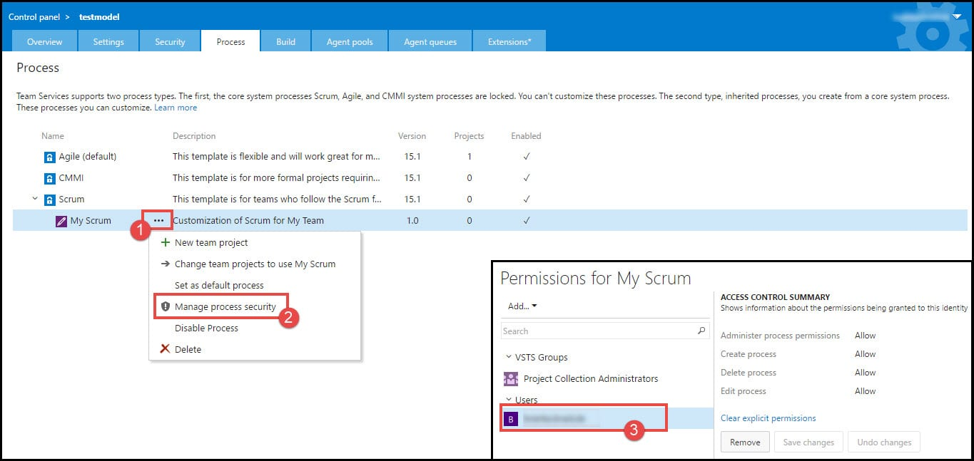 2-Setting process security VSTS
