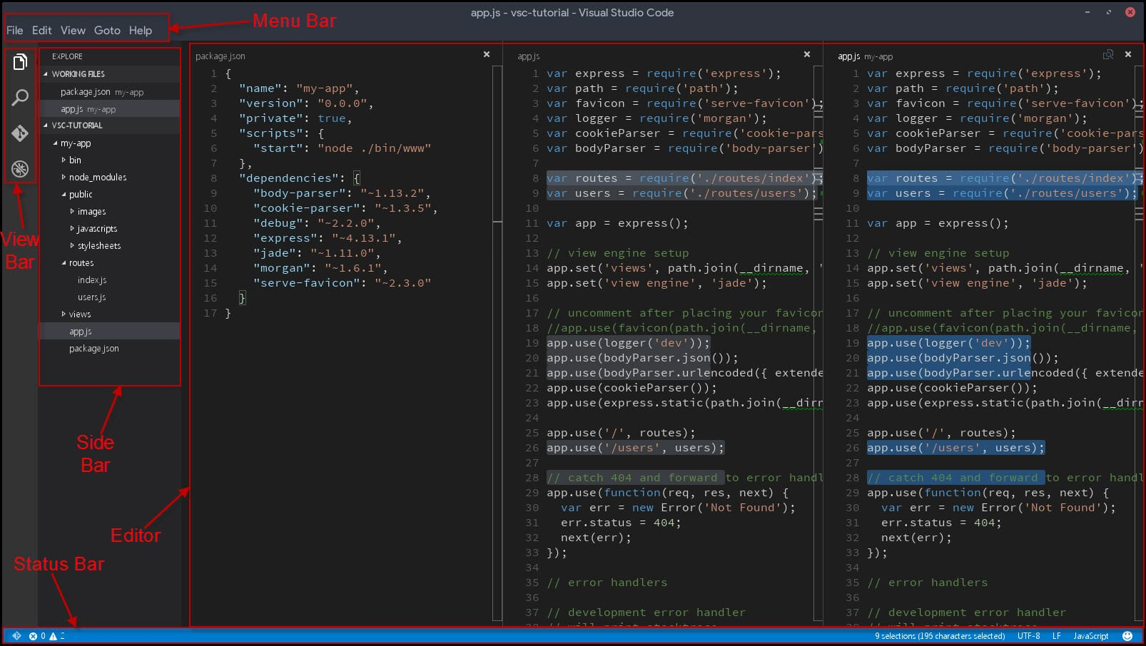 1-user interface of Visual Studio Code