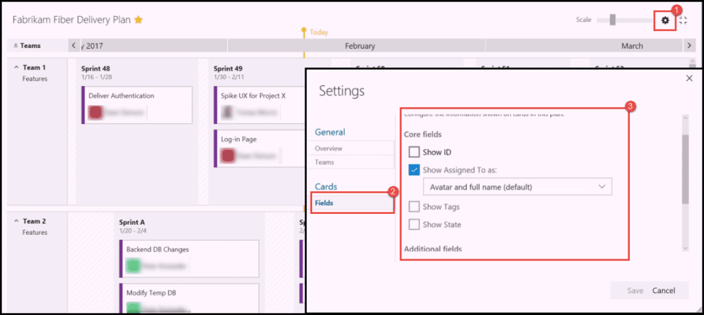 Tasks and Teams Flexibility VSTS