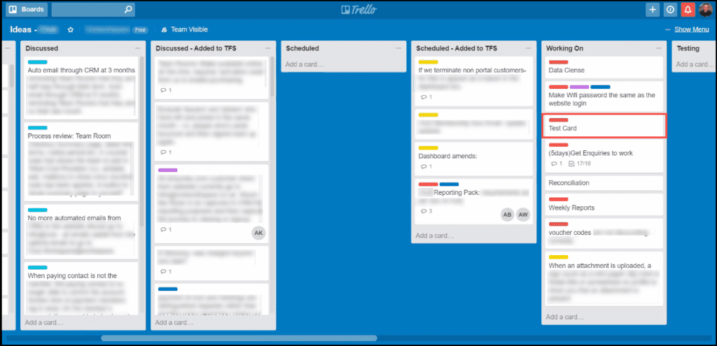3.4-Example of moving the Trello card between the different states
