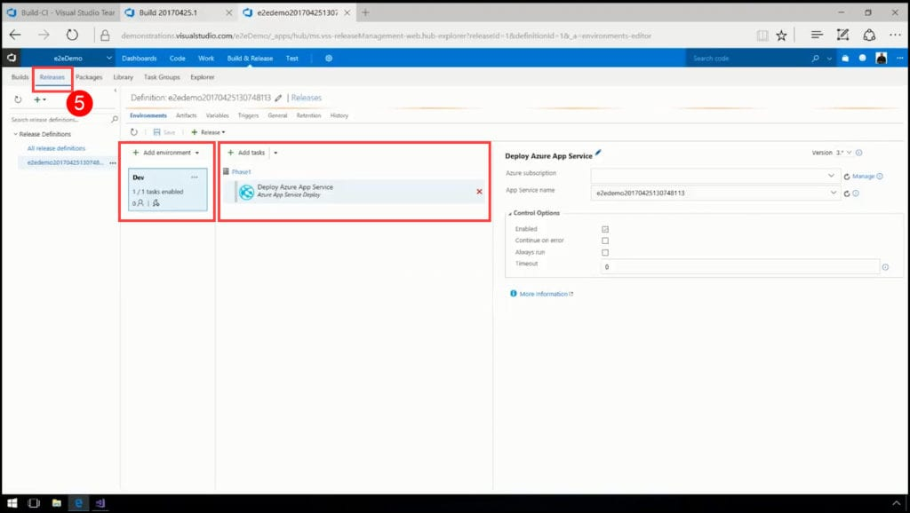 10.3-Deploying result of CI into Azure using CD