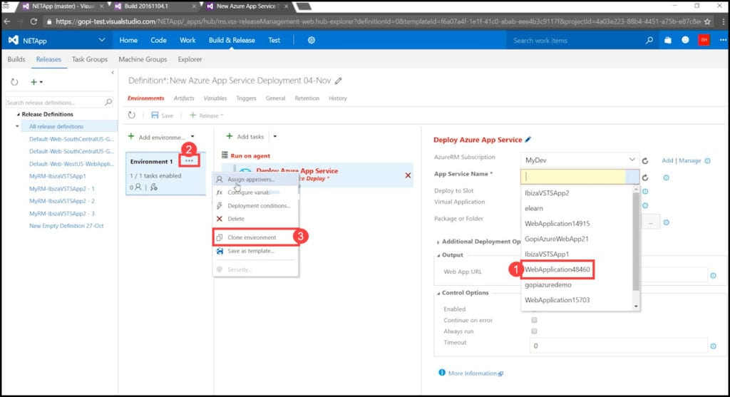 4.1 - Creating a new production environment in VSTS