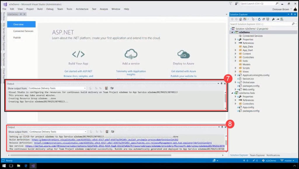 2.3-Linking Continiuos Delivery to the Build, Release and Azure Assets