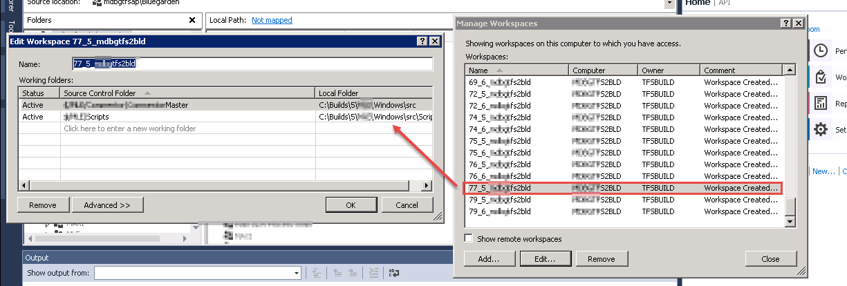 DevOps | Unable to create workspace due to a mapping conflict