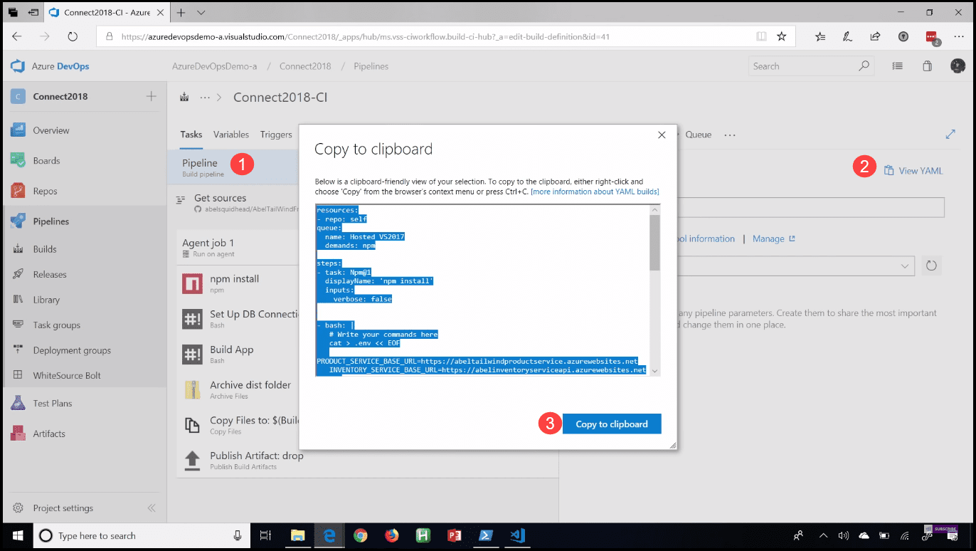 how to get idea Azure DevOps Add CI/CD Azure Pipelines with