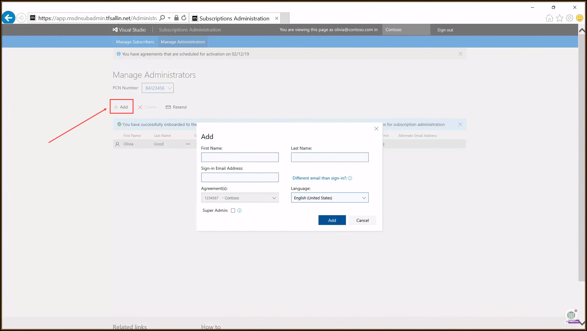 How to onboard to the new Visual Studio Administration Portal
