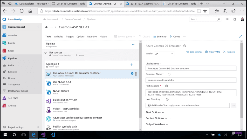 What's new for developers in Azure Cosmos DB Azure Pipelines Cosmos